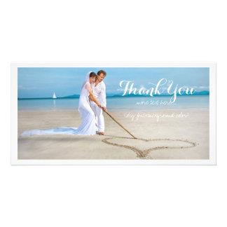 Det PixDezines bröllopfotoet tackar dig Fotokort