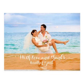 Det PixDezines bröllopfotoet tackar dig vykort