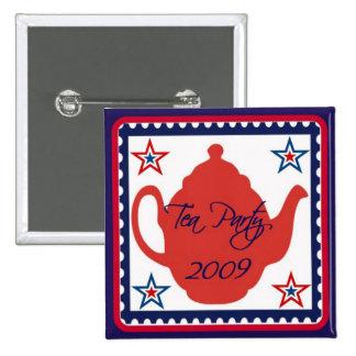 Det politiska Teapartyet 2009 knäppas Standard Kanpp Fyrkantig 5.1 Cm