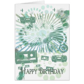 Det Retro födelsedagkortet - modernt Retro - Hälsningskort