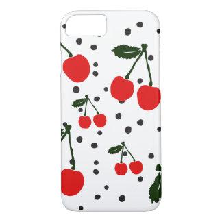 Det Retro körsbärsröda fodral för tryckiPhone 7