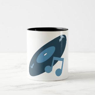 Det Retro musikrekordet noterar blått Kaffe Kopp