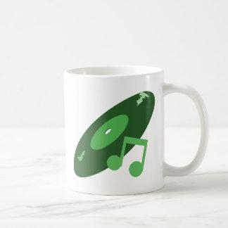 Det Retro musikrekordet noterar grönt Kaffe Koppar