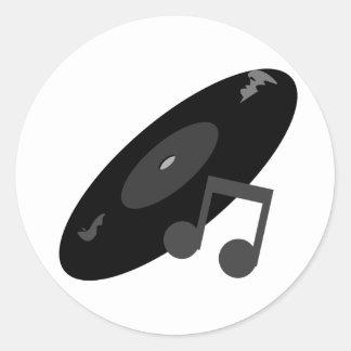 Det Retro musikrekordet noterar svart Klistermärken