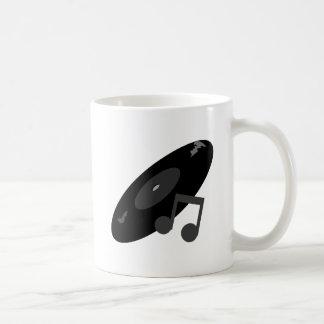 Det Retro musikrekordet noterar svart Kaffe Muggar
