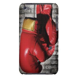 Det röda boxninghandskefodral täcker iPod touch skydd