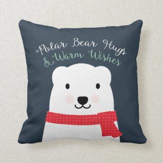 Det röda polara björnkramar & varma önskemål kudde