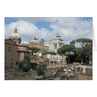 Det romerska fora - latin: Fora Romanum Hälsningskort