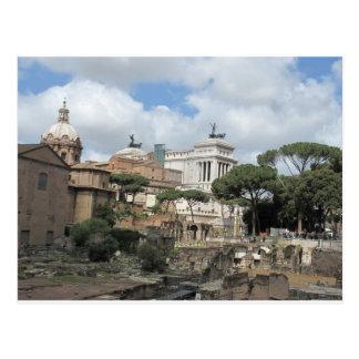 Det romerska fora - latin: Fora Romanum Vykort