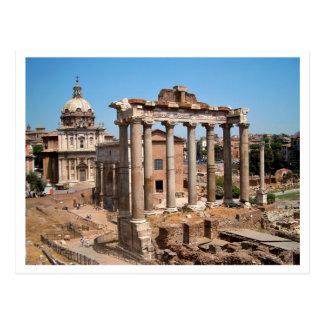 Det romerska fora vykort