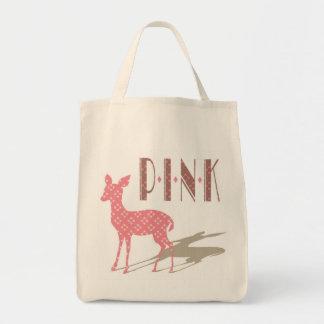 Det rosa Bambi livsmedel Eco hänger lös Mat Tygkasse