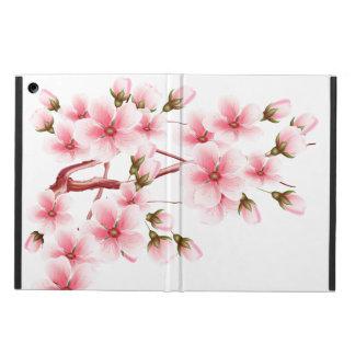 Det rosa körsbäret blomstrar om-vit fodral för iPad air
