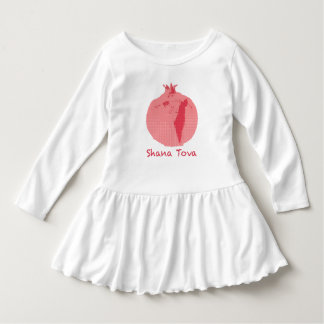 Pink Pomegranate Shana Tova Toddler Ruffle Dress