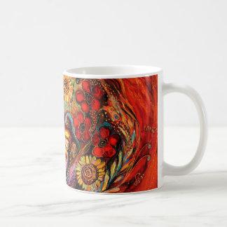Det rött på rött kaffemugg
