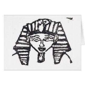 Det Rubber frimärket, egyptier maskerar Hälsningskort