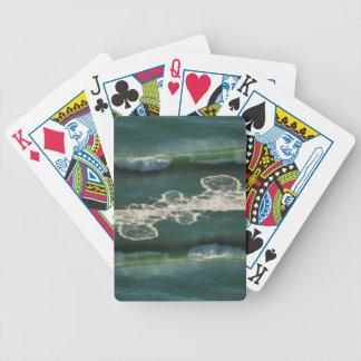 Det rullande krullande Stilla havet vinkar Spelkort
