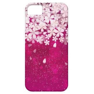 Det Sakura körsbäret blomstrar fuchsia- & iPhone 5 Skydd