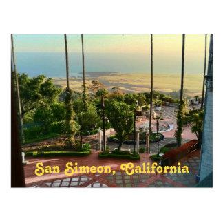 Det San Simeon hav beskådar Vykort