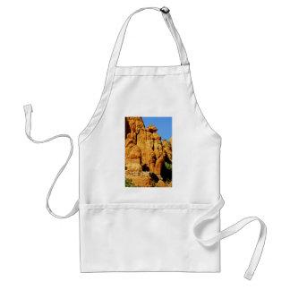 Det Sedona berg landskap den främmande statyn Förkläde