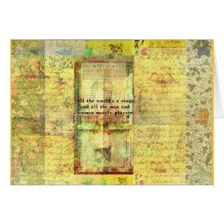 Det Shakespeare citationstecknet alla värld är en Hälsningskort