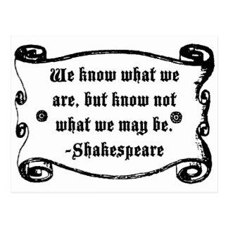 Det Shakespeare citationstecknet, vet vad vi är Vykort