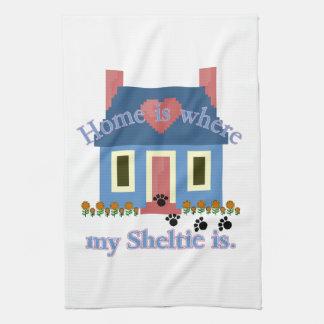 Det Sheltie hemmet är Kökshandduk