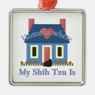 Det Shih Tzu hemmet är Julgransprydnad Metall