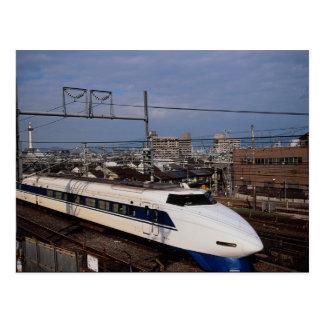 Det Shinkansen eller kultåg, Kyoto, Japan Vykort