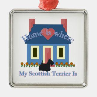 Det skotska Terrierhemmet är Julgransprydnad Metall