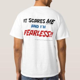 Det skrämmer den oförskräckta mig och t-shirts