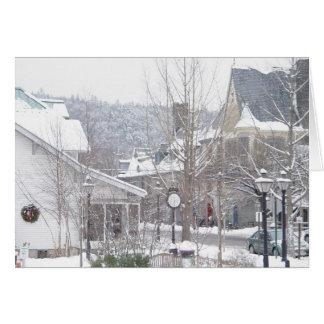 Det snowing i Milford Hälsningskort