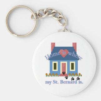 Det ST BERNARD hemmet är Nyckelring