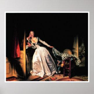 Det stal kysstrycket av Jean-Honore Fragonard Poster