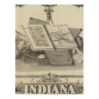 Det statligt av Indiana Vykort