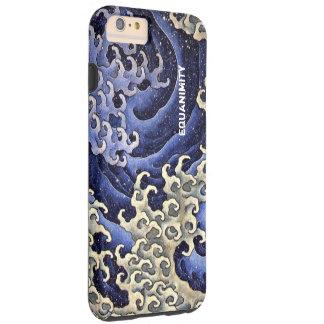 Det Stylized hav vinkar marinblått och elfenben Tough iPhone 6 Plus Fodral
