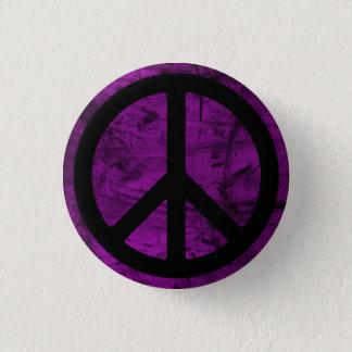 Det svart fredsymbolet knäppas mini knapp rund 3.2 cm