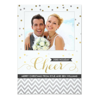 Det svart helgdagjubelfotoet Cards | 12,7 X 17,8 Cm Inbjudningskort
