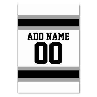 Det svart namn för den silverfotbollJersey Bordsnummer