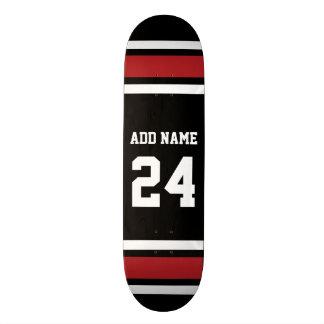 Det svart och röda namn för den sportJersey Mini Skateboard Bräda 18,5 Cm