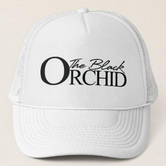 Det svart Orchidlastbilsförarelocket Truckerkeps