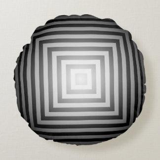 Det svartvita sken kvadrerar rund kudde