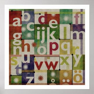Det svenska alfabetet poster