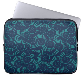 Det Swirly hav vinkar Laptop Fodral