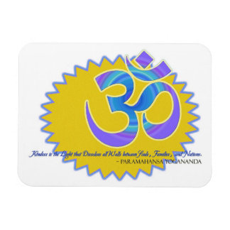 Det symbolParamahansa Yogananda för Om Aum citatio Magneter