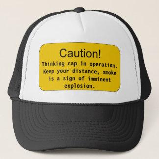 Det tänkande locket - varna! , Tänka… Truckerkeps
