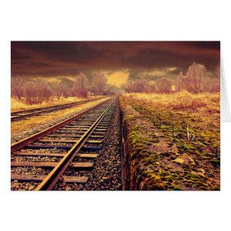 Det tomma tåg spårar det tomma kortet hälsningskort