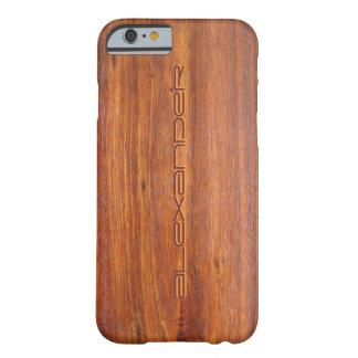 Det trä skräddarsy fodral för iPhone 6 täcker Barely There iPhone 6 Skal