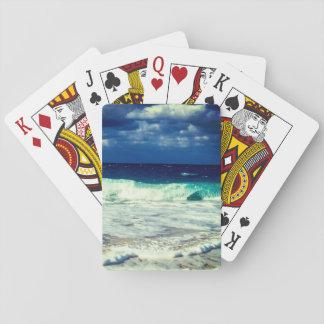 Det tropiska hav vinkar spel kort