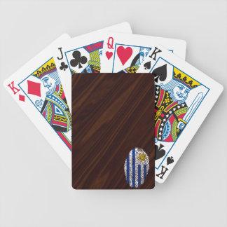 Det uruguayanska handlag identifierar med spelkort