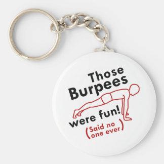 Det var Burpees rolig Rund Nyckelring